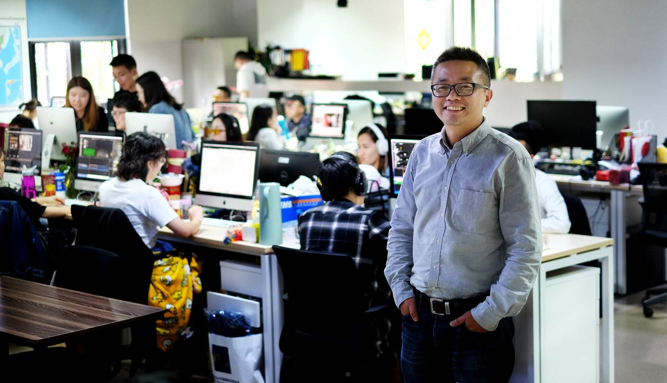 Co-founder Wei Xing at Pear Video's offices in Shanghai
